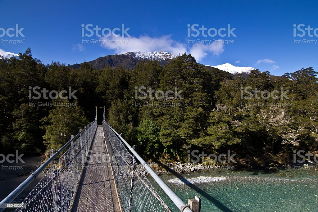 Blue Pools, New Zealand stock photo