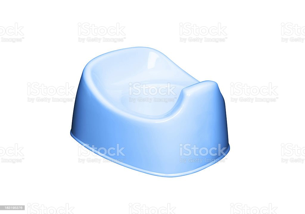 blue potty isolated royalty-free stock photo