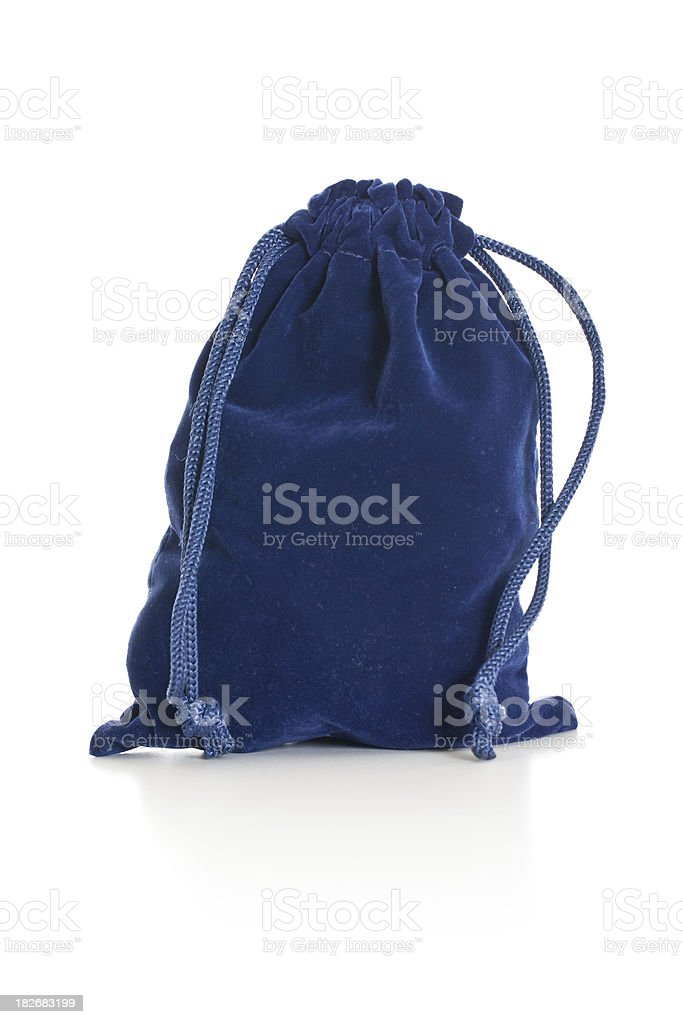Blue pouch royalty-free stock photo