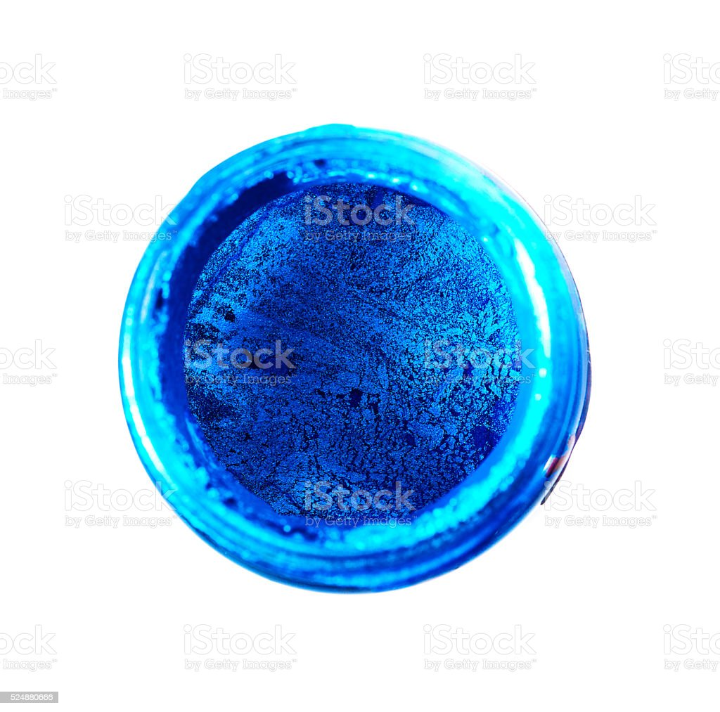 blue powder stock photo