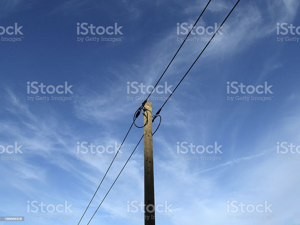 Blue Power Line royalty-free stock photo