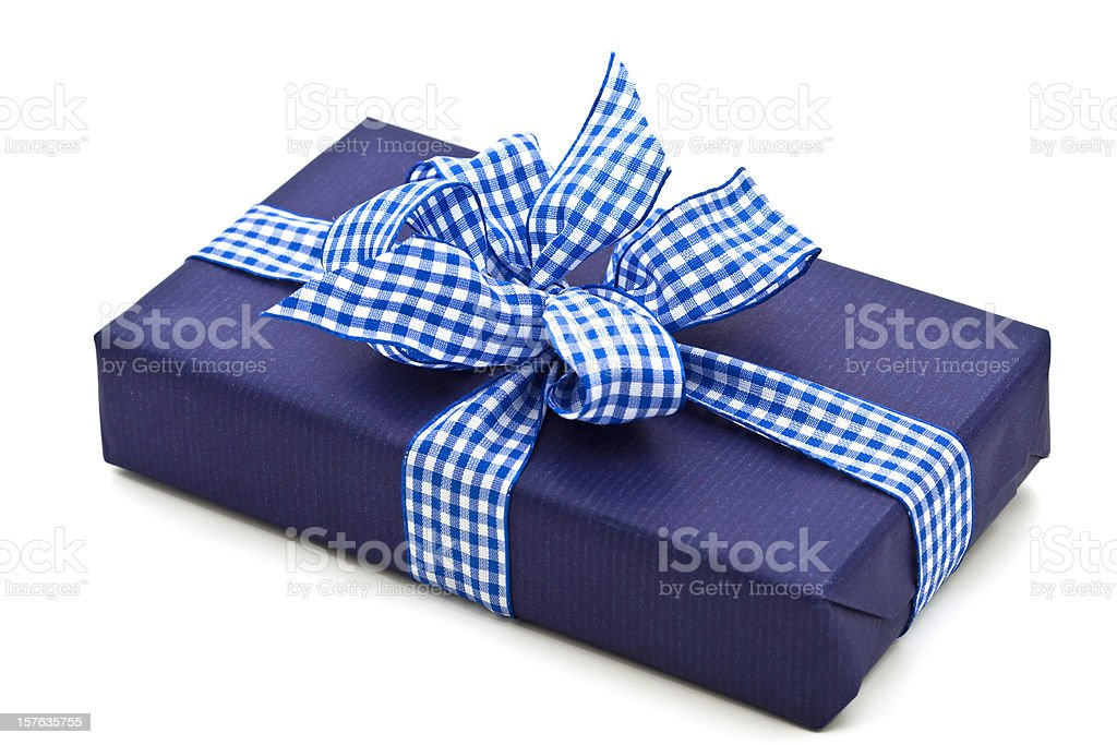 blue present royalty-free stock photo