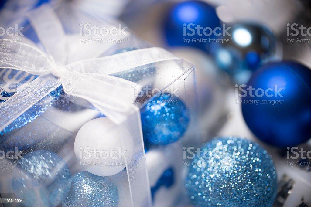 Blue presents stock photo