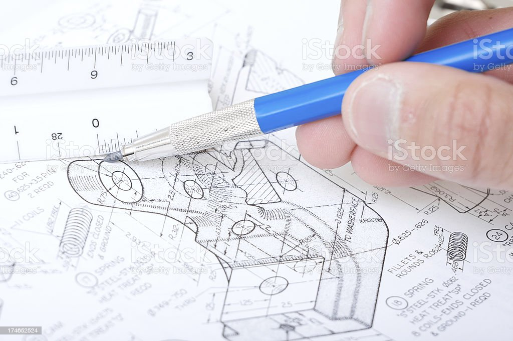 blue print measurements royalty-free stock photo