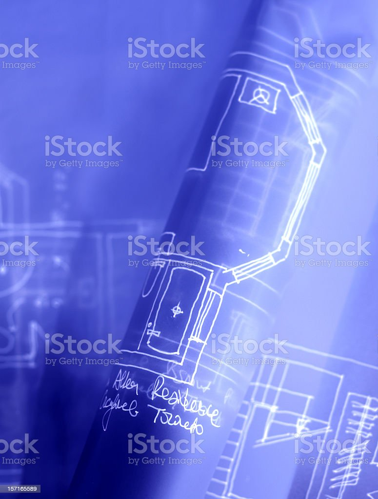 blue print royalty-free stock photo