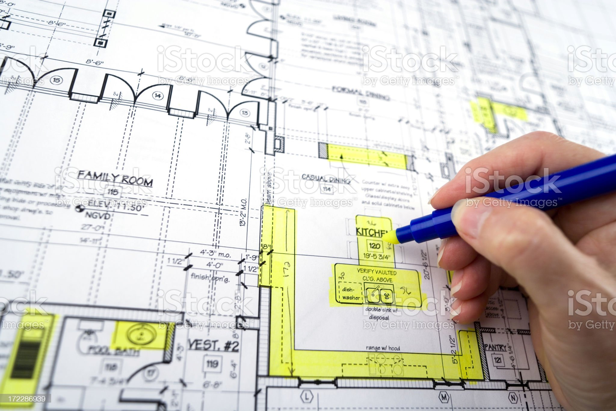 Blue Prints royalty-free stock photo