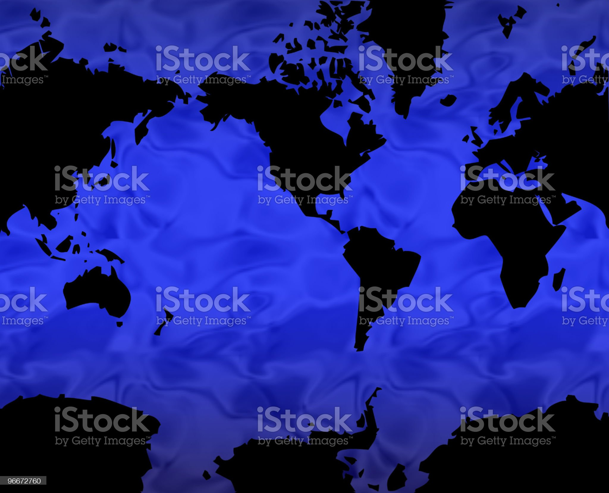 Blue Projection Map royalty-free stock vector art