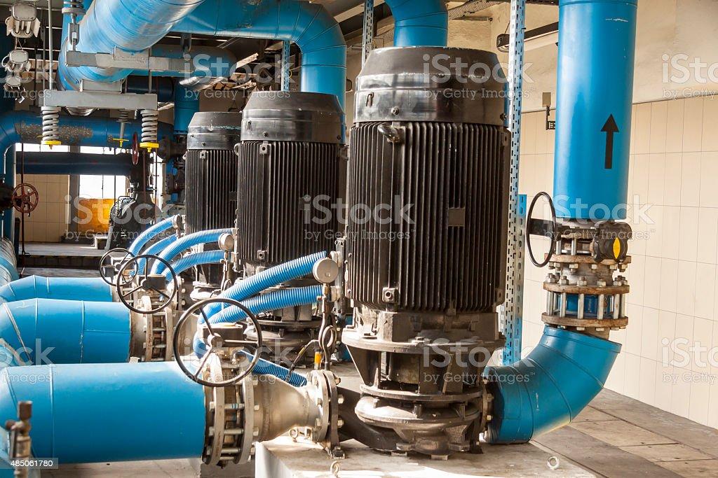 Blue pump stock photo