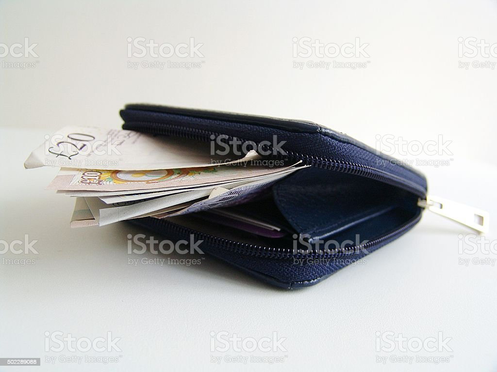 Blue purse stock photo