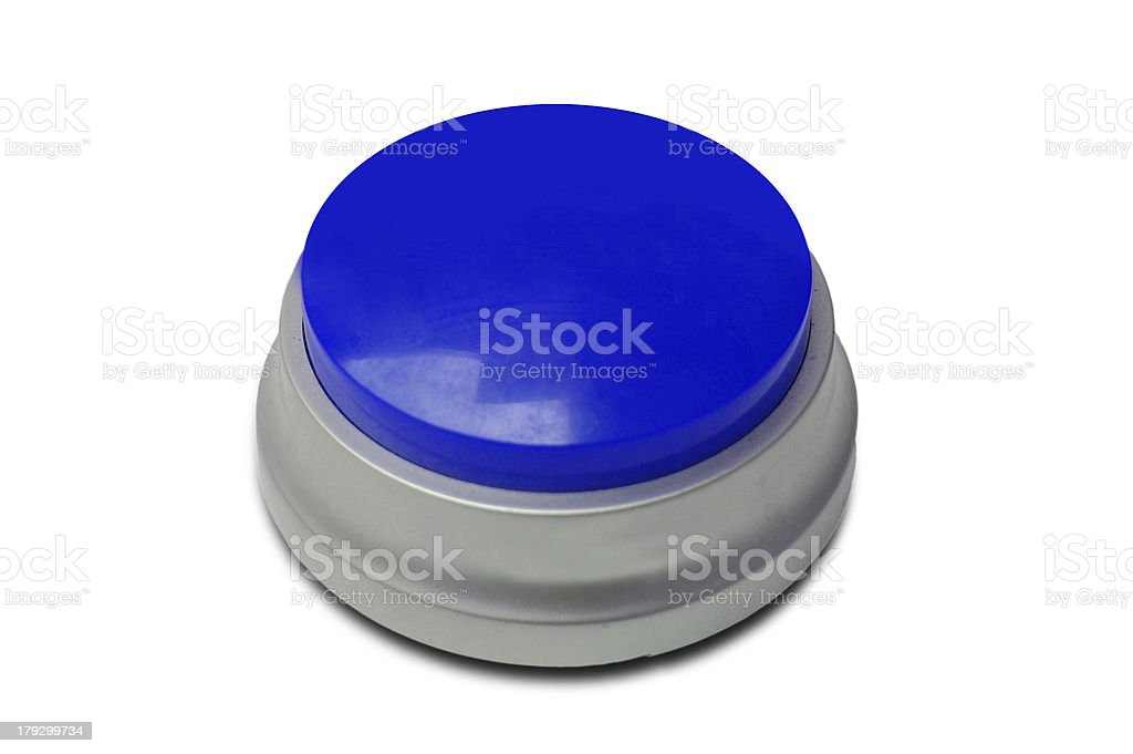 Blau Push Button Lizenzfreies stock-foto