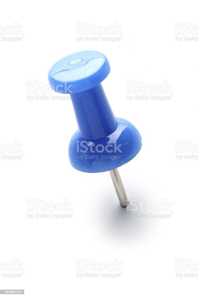 Blue Push Pin royalty-free stock photo