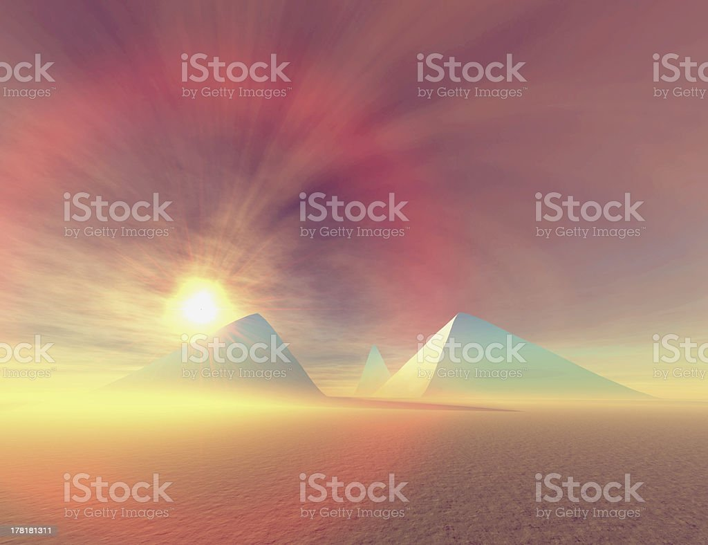 Blue Pyramids royalty-free stock photo