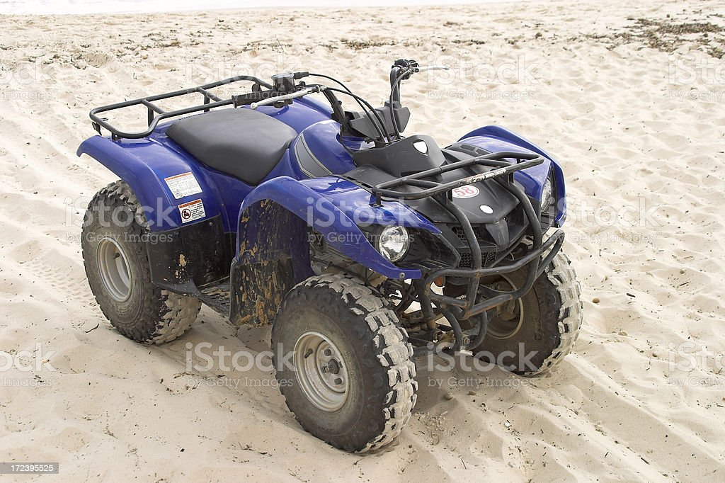Blue quad bike royalty-free stock photo