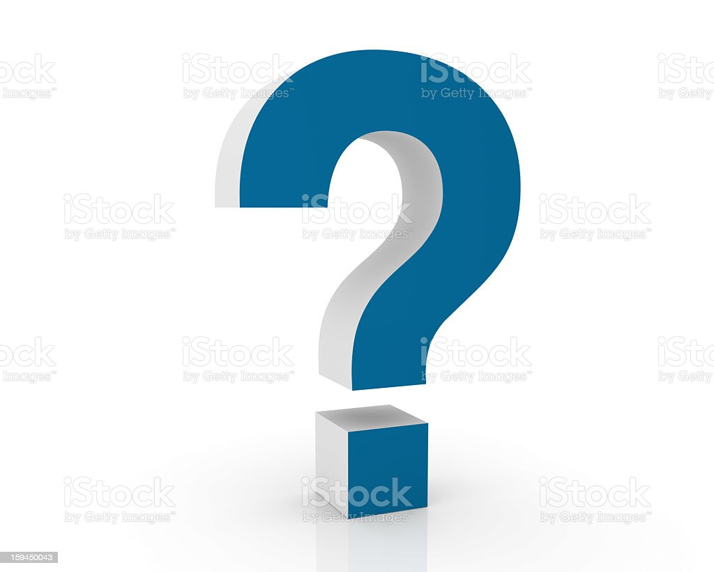 Blue Question Mark royalty-free stock photo