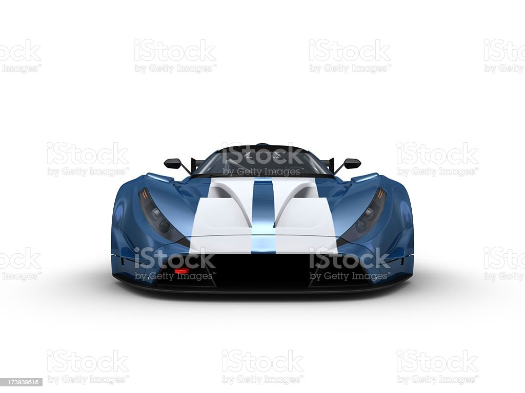Blue Racecar royalty-free stock photo