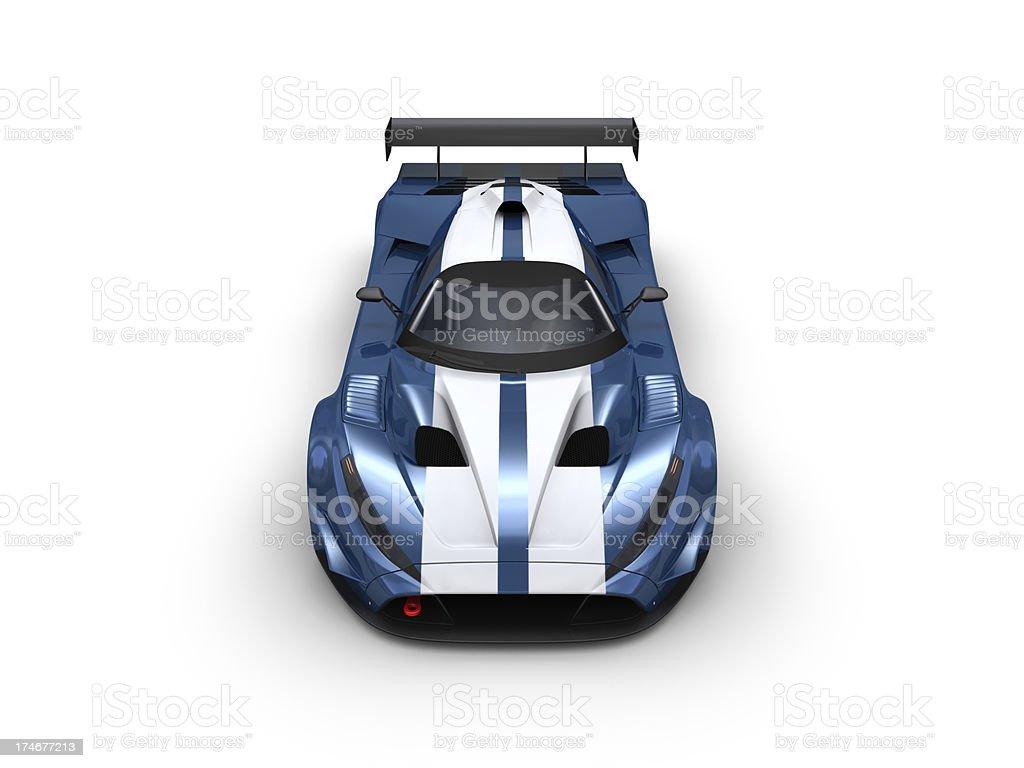 Blue Racecar royalty-free stock photo