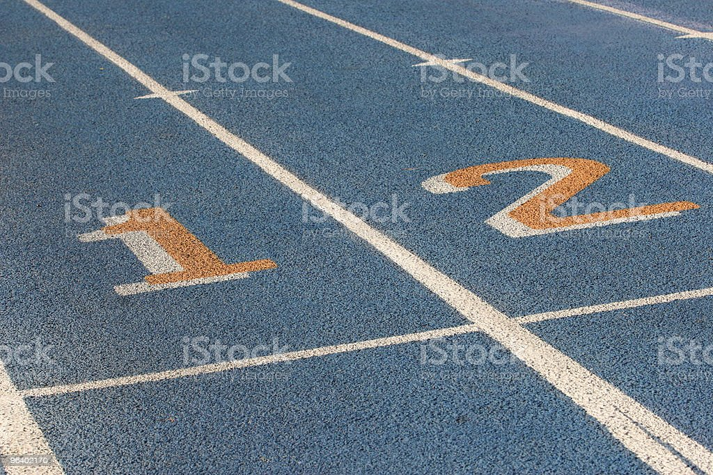 Blue racetrack royalty-free stock photo