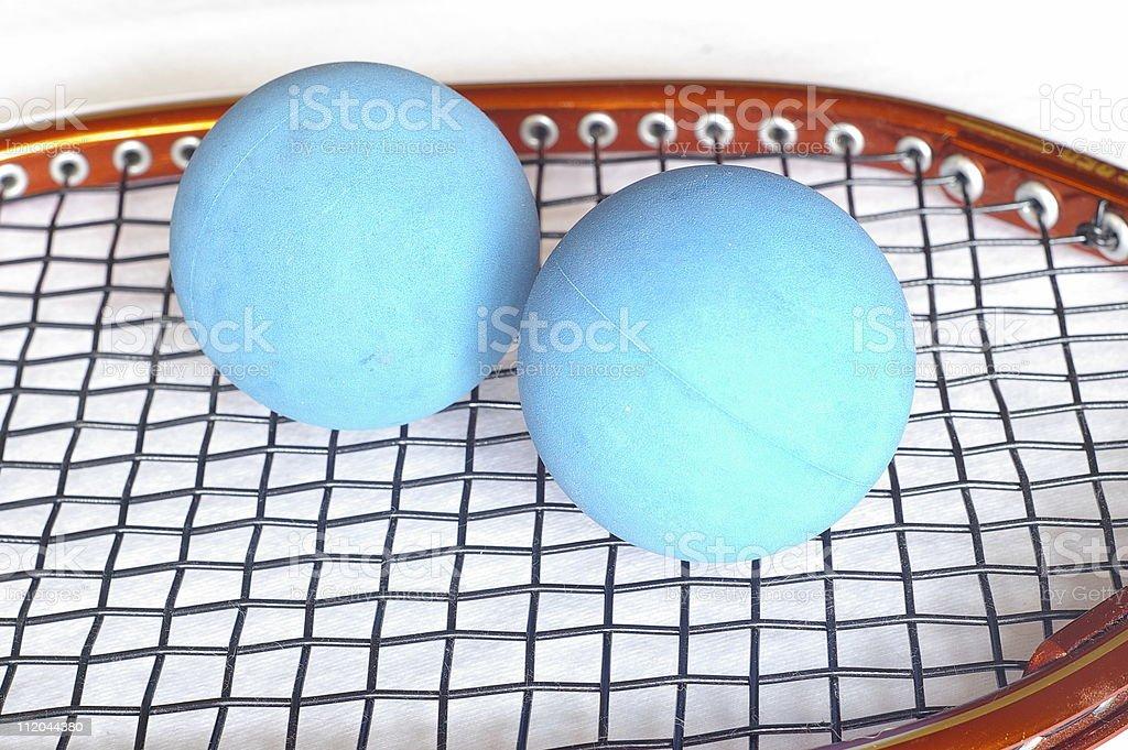 Blue Racketballs 2 royalty-free stock photo