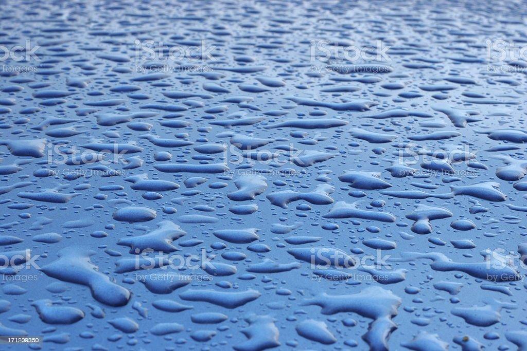 blue rain royalty-free stock photo