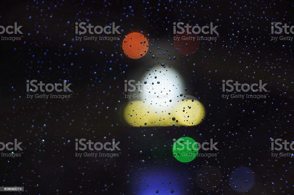 Blue Rain stock photo