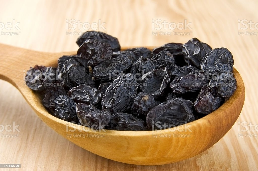 Blue raisins royalty-free stock photo