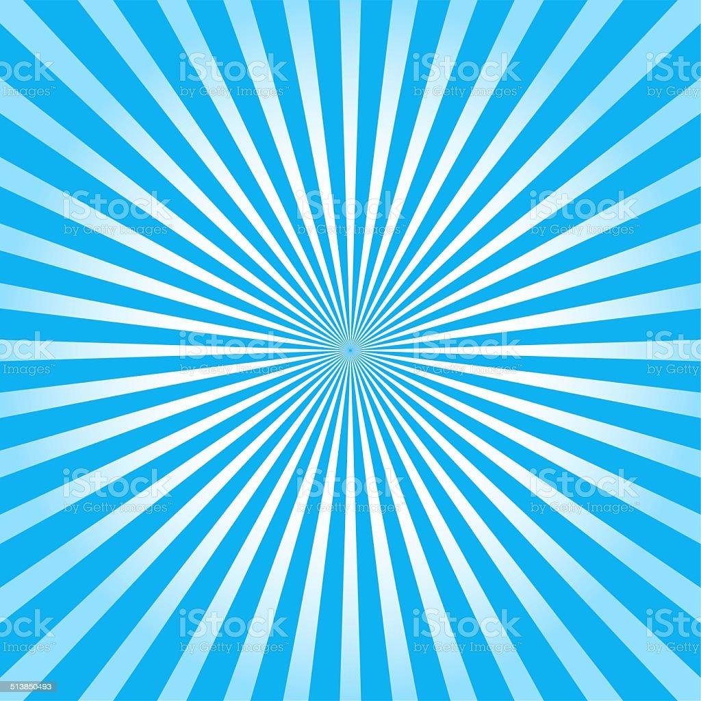 Blue ray sunburst style abstract background stock photo