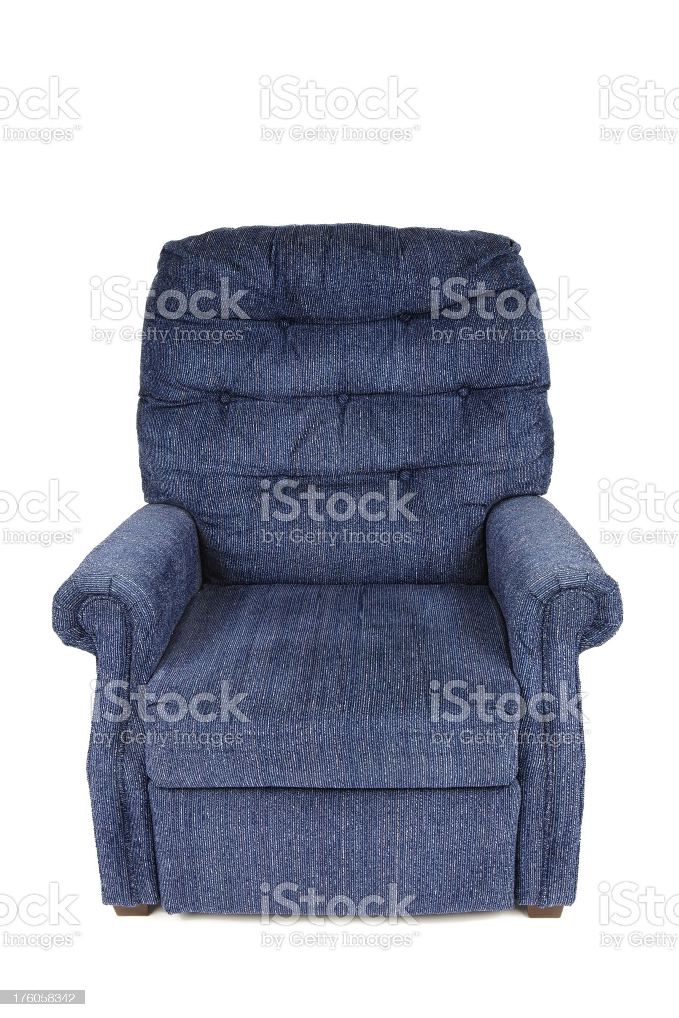 Blue Recliner Chair royalty-free stock photo
