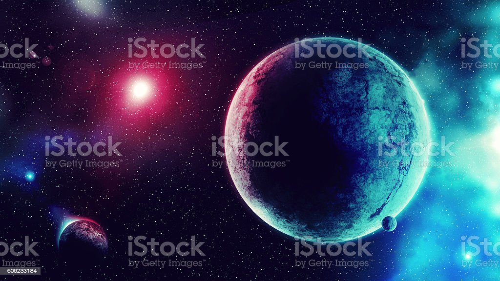 Blue Red Galaxy stock photo