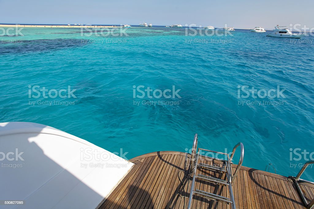 Blue Red Sea stock photo