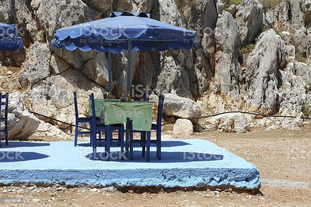 Blue Restaurant royalty-free stock photo