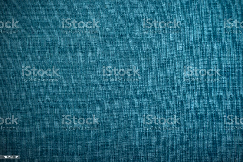 Blue retro linen kitchen tablecloth background stock photo