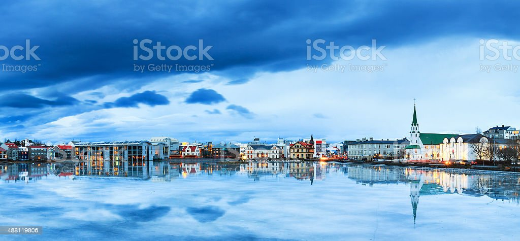 Blue Reykjavik stock photo
