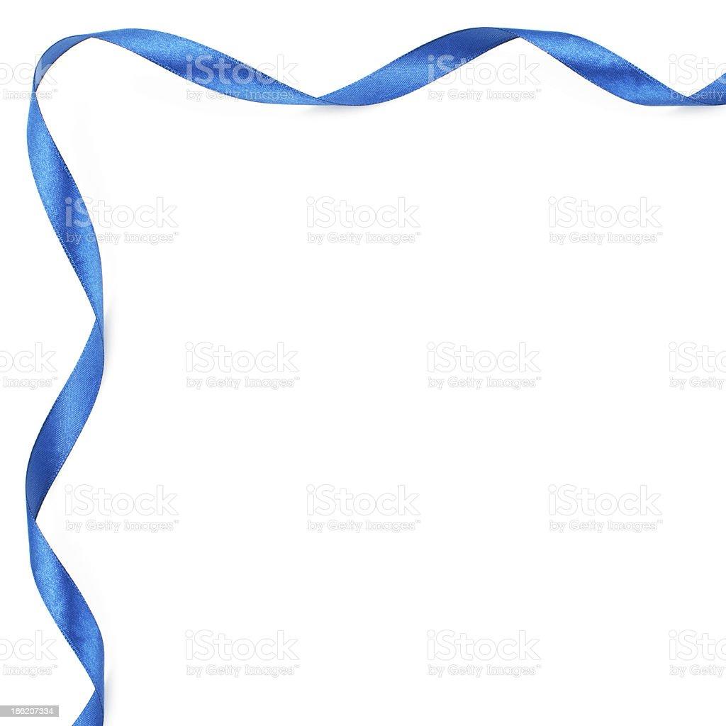 Ruban bleu frontière photo libre de droits