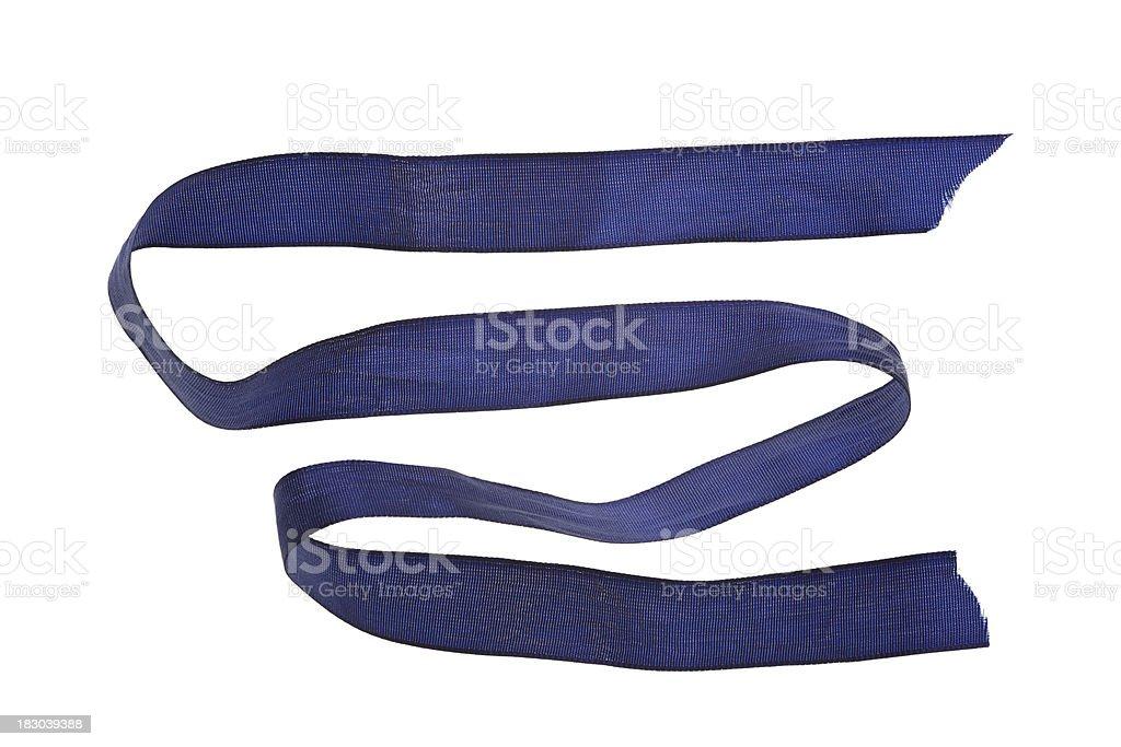 blue ribbon isolated on white stock photo