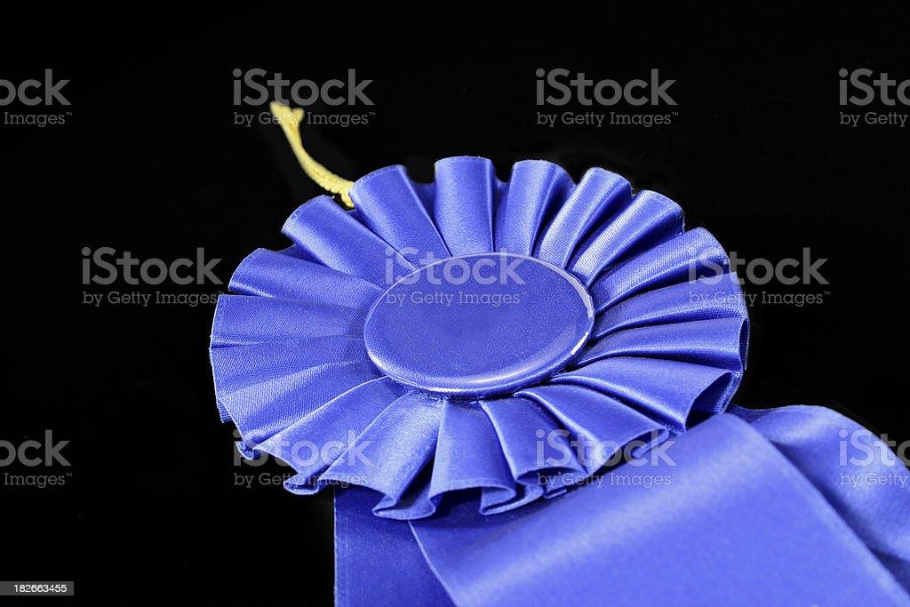 Blue Ribbon on Black royalty-free stock photo
