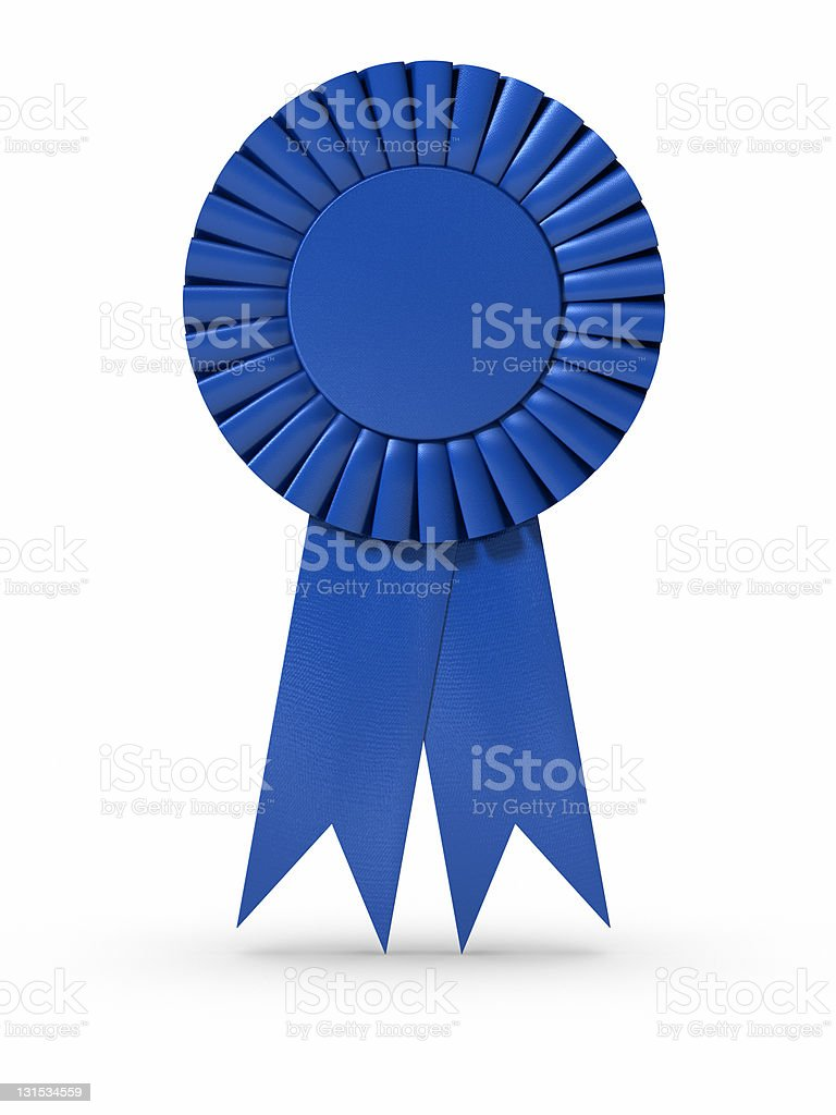 Blue Ribbon (isolated) stock photo