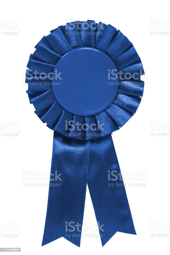 Blue ribbon stock photo