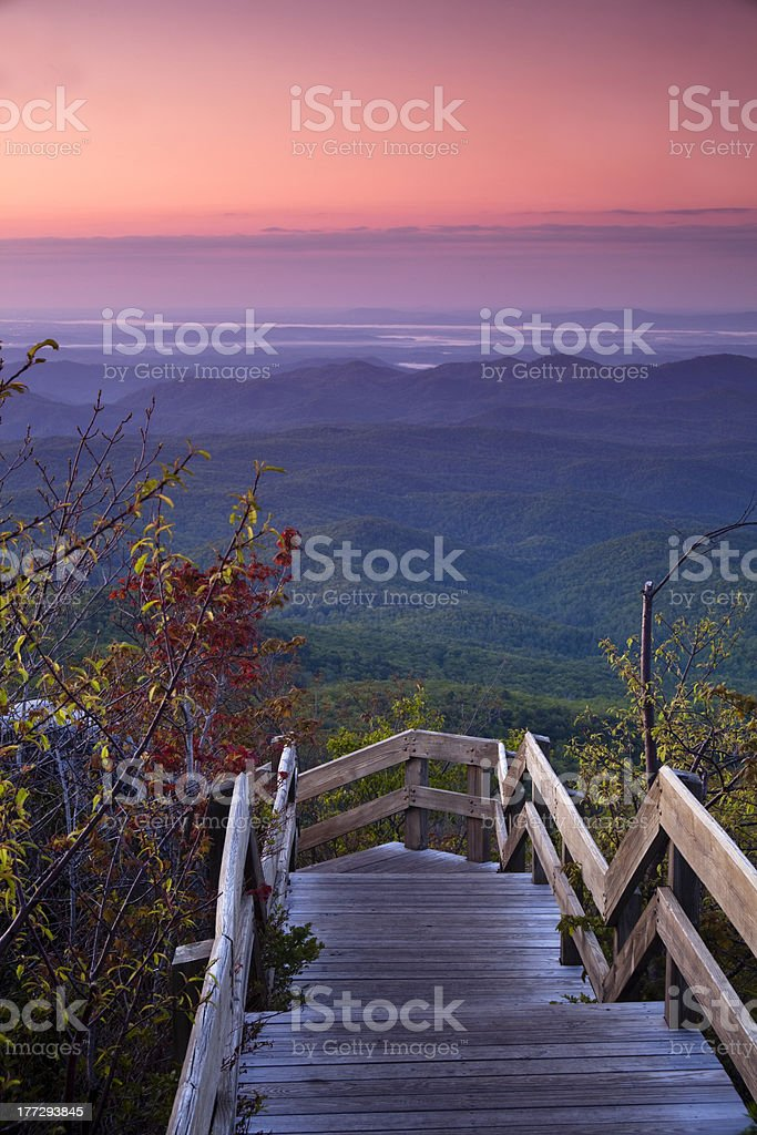 Blue Ridge at Dawn stock photo
