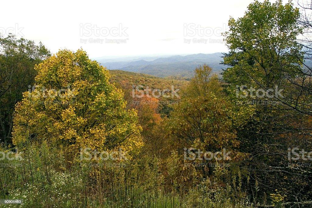 blue ridge autumn 3 royalty-free stock photo