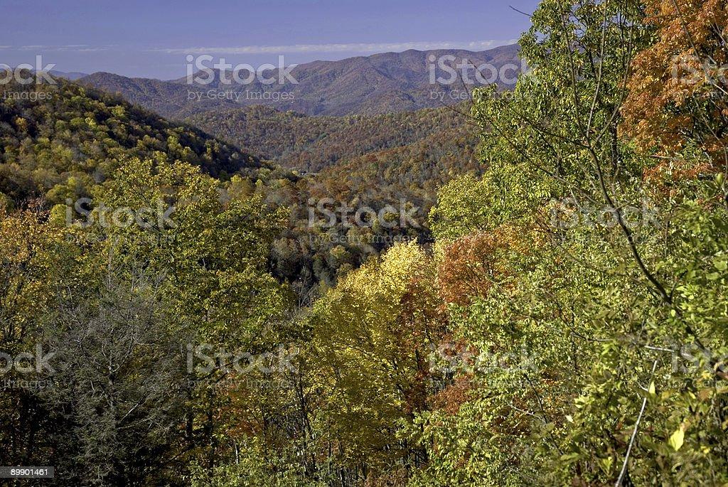Blue Ridge Autumn in Western North Carolina royalty-free stock photo