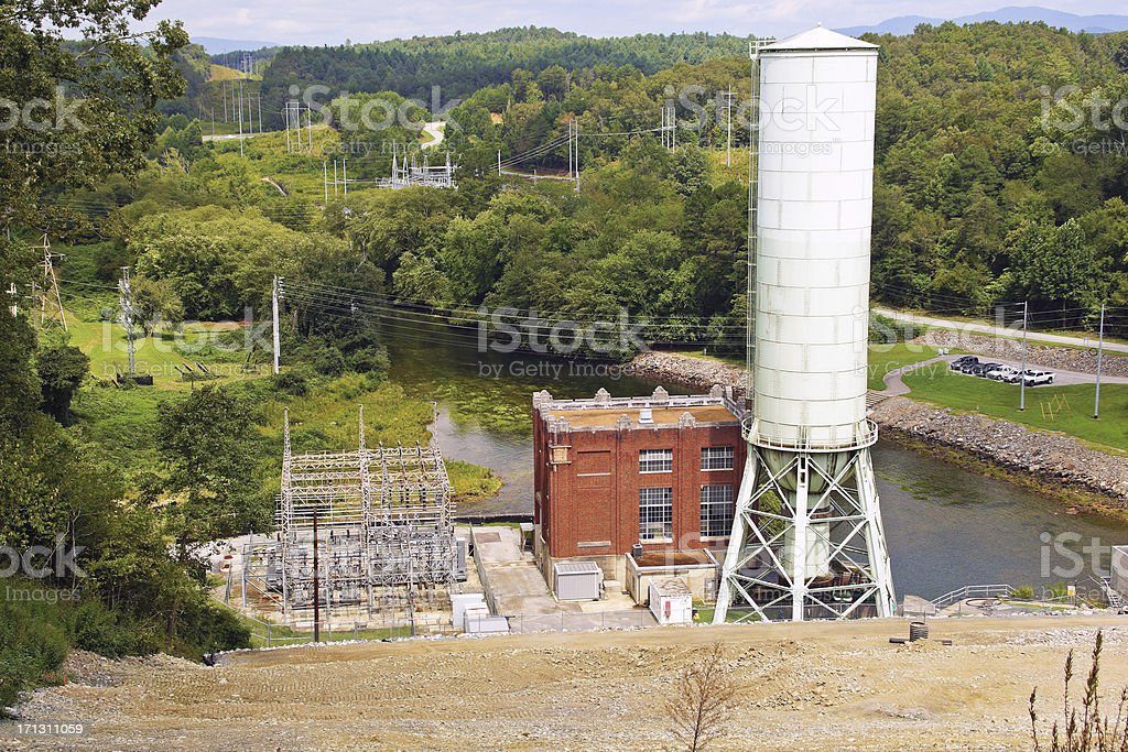 Blue Ridge Dam Power Plant royalty-free stock photo