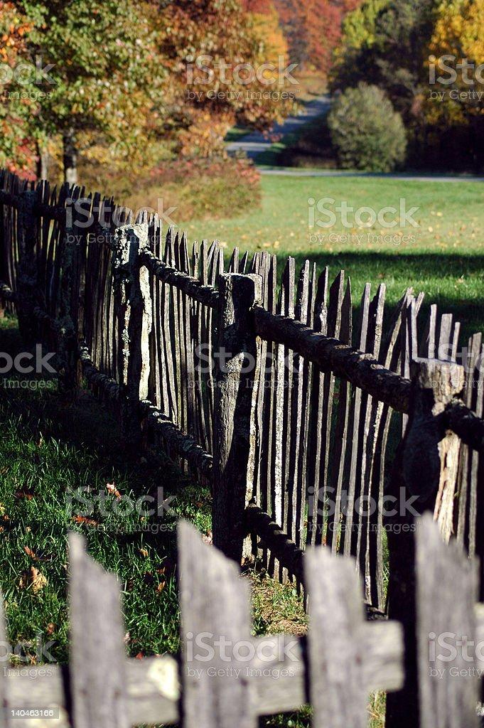 Blue Ridge Fence royalty-free stock photo