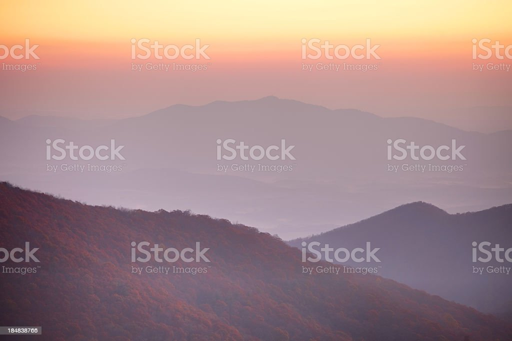 Blue Ridge in Virginia royalty-free stock photo
