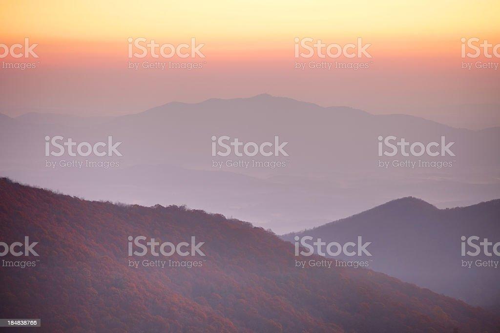 Blue Ridge in Virginia stock photo