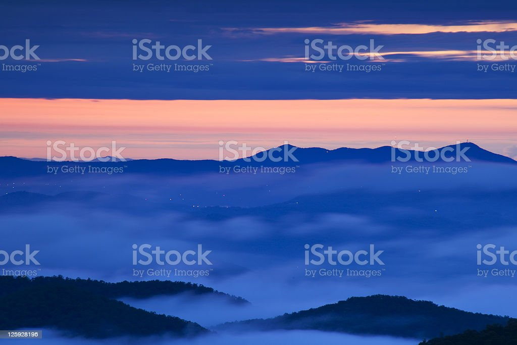 Blue Ridge Mountain Morning royalty-free stock photo
