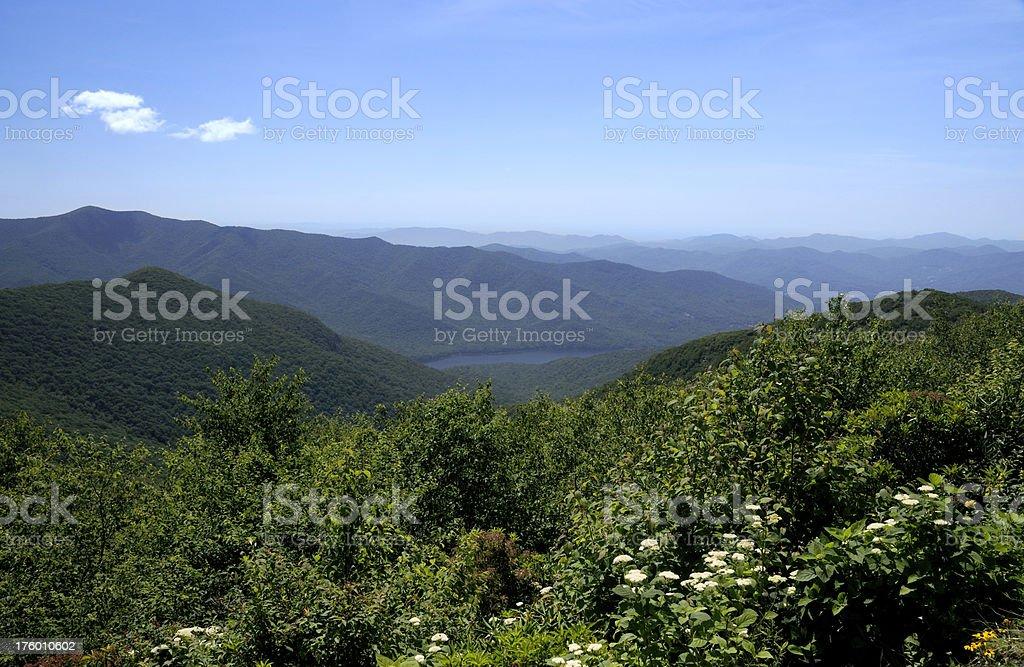Blue Ridge Mountain Overlook royalty-free stock photo