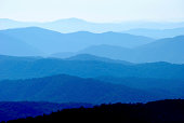 Blue Ridge Mountain Range Vibrant Layers