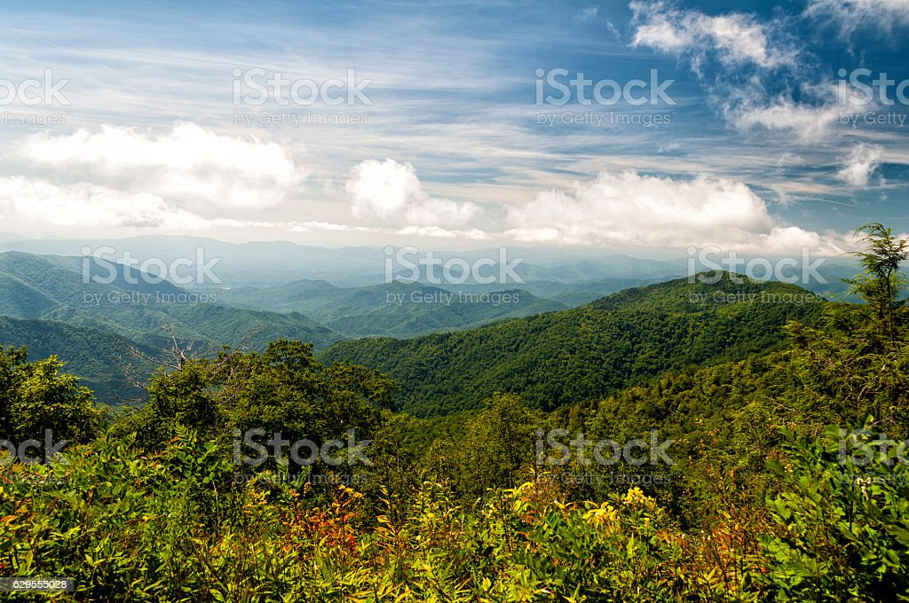Blue ridge Mountain vista stock photo
