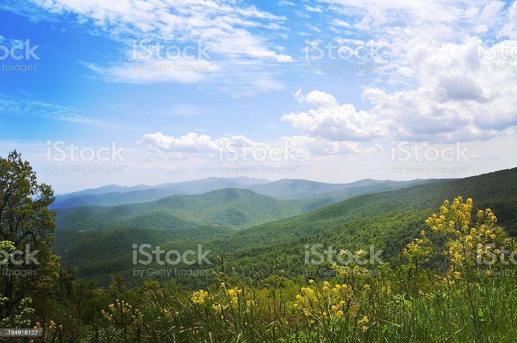 Blue Ridge Mountains, Appalachians, Virginia stock photo