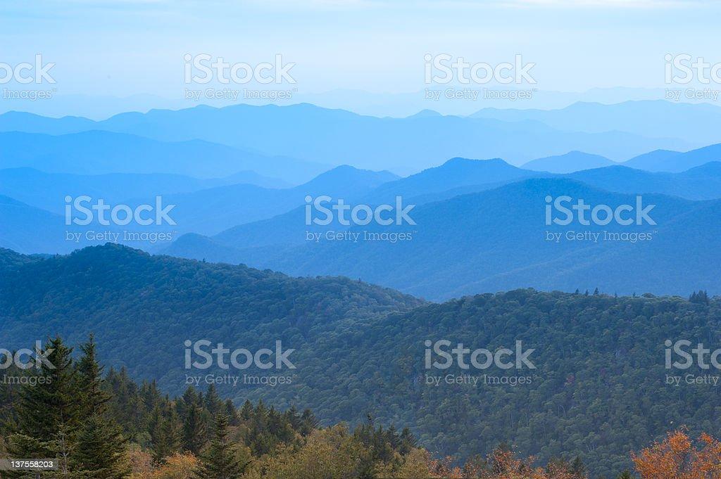 Blue Ridge Mountains, Early September stock photo